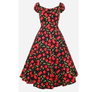ModCloth Collectif Dolores Cherry Polka Dress